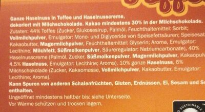 Toffee & Nuts - Ingredienti - de