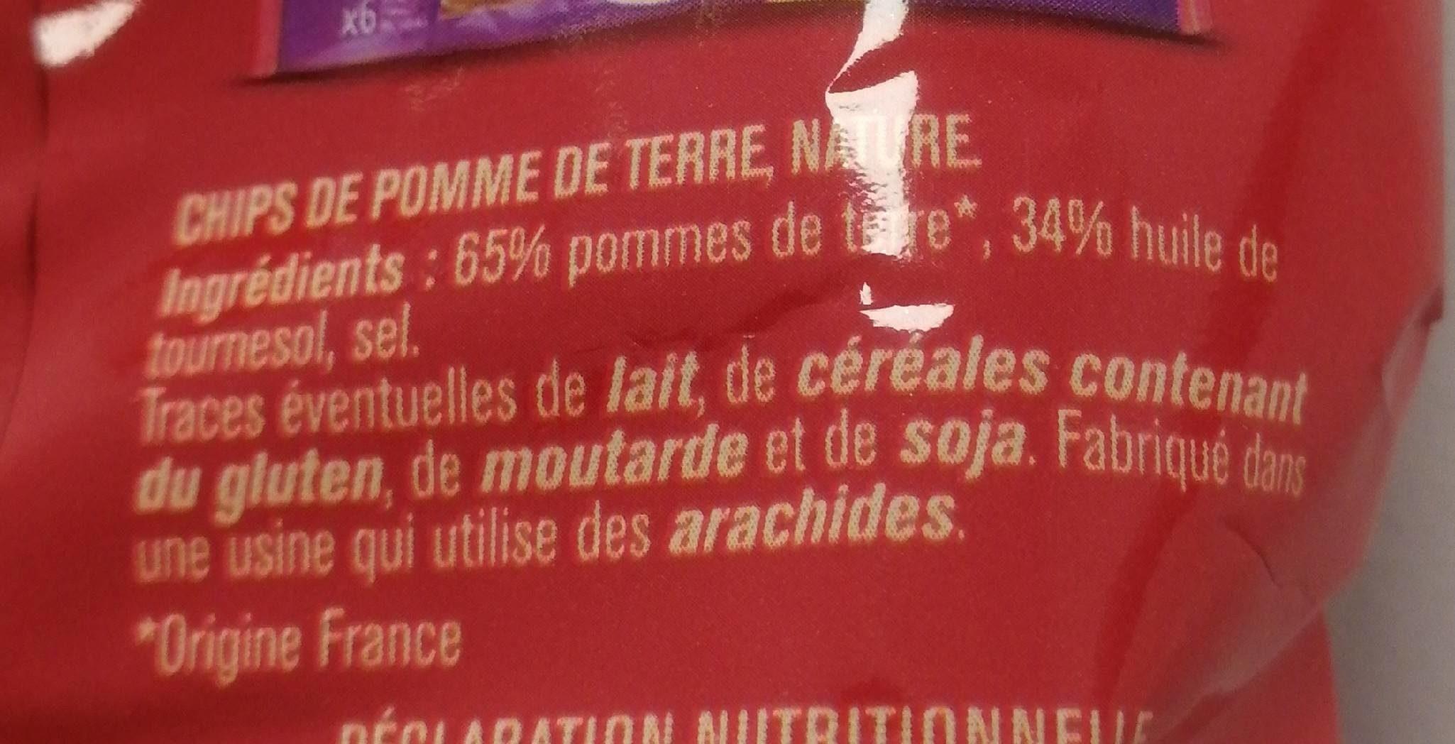 Nature chips classiques - Ingrediënten