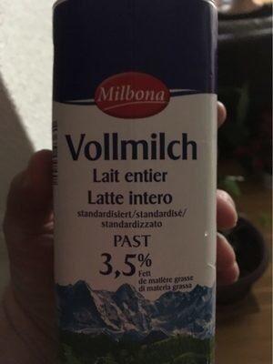 Vollmilch 3,5%, 3,5% - Produit - fr