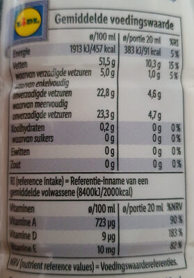 Bewust Light - Nutrition facts - nl