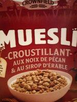 Muesli croustillant aux noix de pécan & au sirop d'érable - Product - fr