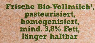 Bio Frische Voll-milch - Ingrediënten - de