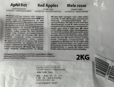 Red apples - Składniki - pl