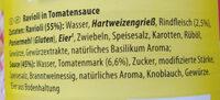 Ravioli in Tomatensoße - Ingredients