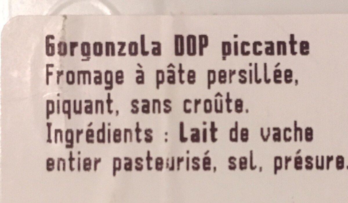 Gorgonzola Dop Piccante, 200g - Ingrédients - fr