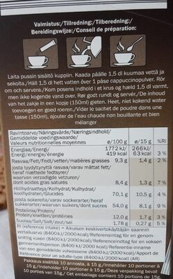 Cappuccino clássico - Informations nutritionnelles