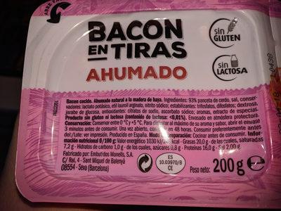 Tiras de bacon ahumado sin lactosa - Producte - es