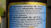 Patronus Weisbier Alcoholfrei - Ingredients