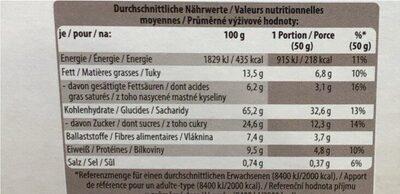 Crunchy schoko - Valori nutrizionali - fi
