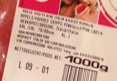 Pommes Pink lady - Ingrédients