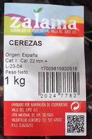 Cerezas - Ingredientes