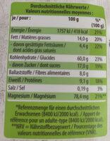 Bio-Cruncy Müsli Aronia - 营养成分 - de