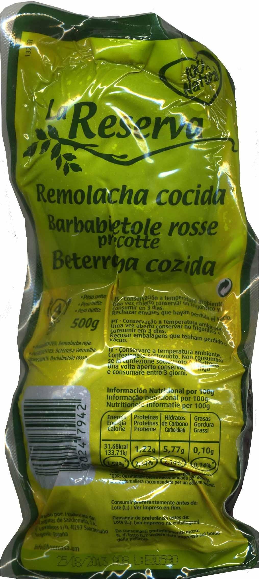 Remolacha roja cocida - Producto