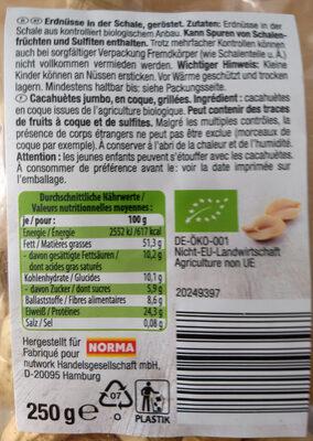 Cacahuetes jumbo bio - Ingrédients - de