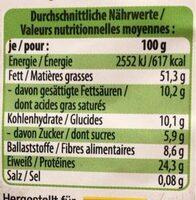 Cacahuetes jumbo bio - Informations nutritionnelles - de