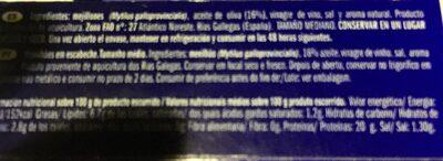 Mejillones medianos en escabeche - Ingredients - es