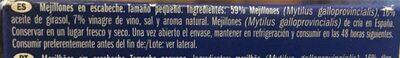 Mejillones en escabeche - Ingrédients - fr