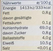 Weichweizen-Grieß - Informations nutritionnelles - de