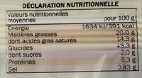Pâte feuilletée Lidl - Nutrition facts