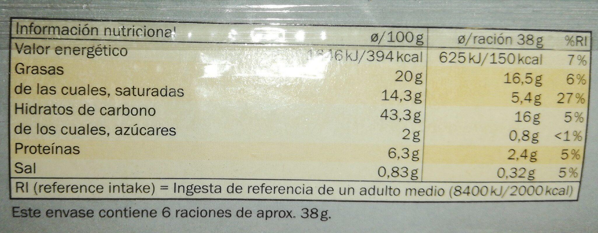 Pâte feuilletée pur beurre - Informations nutritionnelles - fr