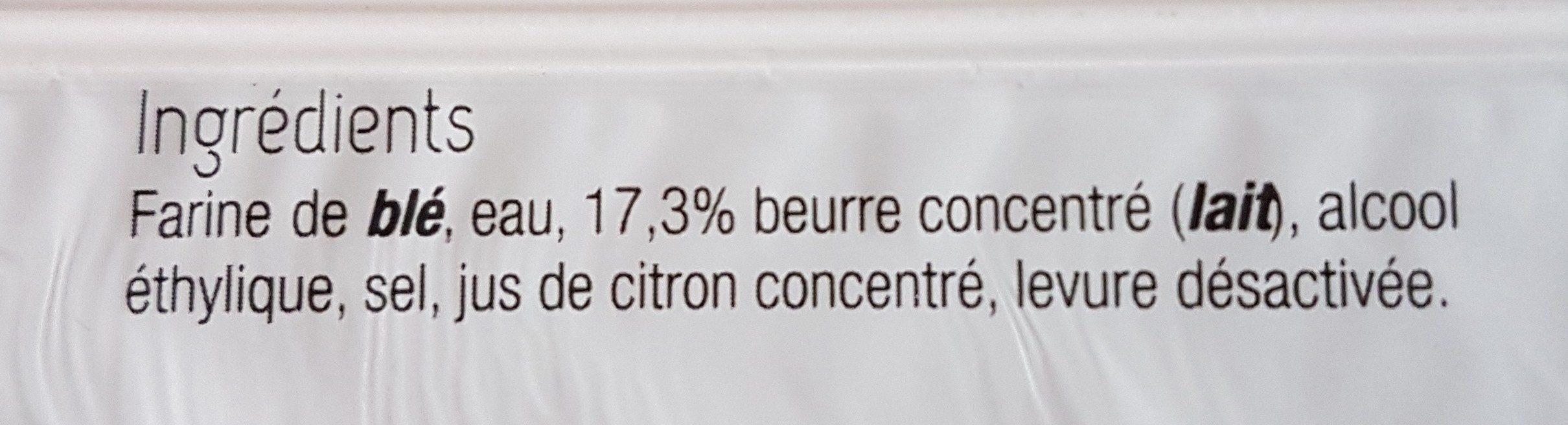 Pâte brisée au beurre - Ingredients - fr