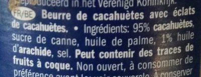 Crunchy Peanut Butter - Ingrédients