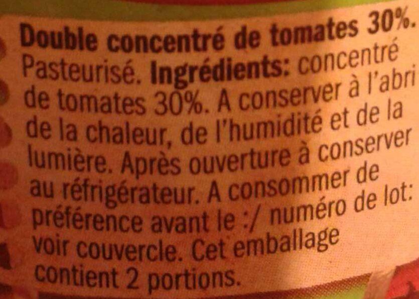 Koncentrat pomidorowy 30% - Ingrédients - fr