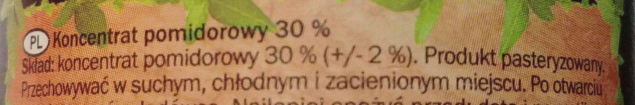 Koncentrat pomidorowy 30% - Ingrediënten