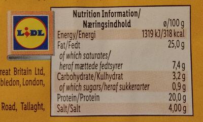 Extra spicy chouriço sausage - Nutrition facts - en