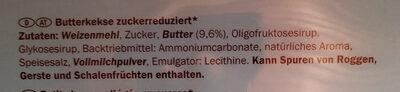 Butterkeks Petit-beurre (-30% Zucker) - Zutaten - de