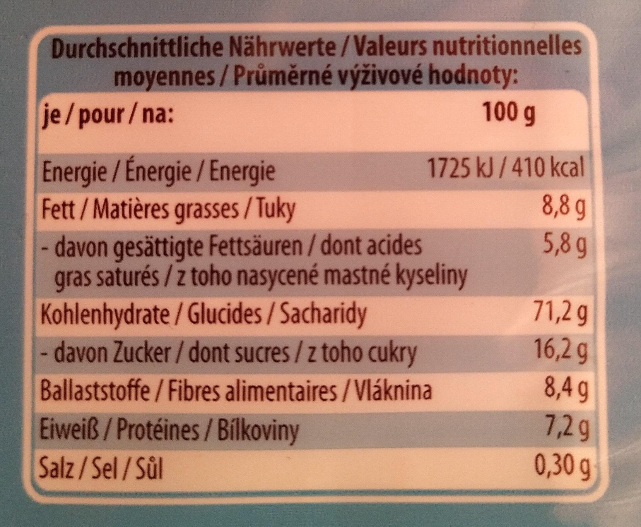 Butterkeks Petit-beurre (-30% Zucker) - Nährwertangaben - de