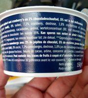 Joghurt, Cranberry Mit Schokosplits - Ingrédients - fr