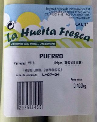 Puerro - Información nutricional - es