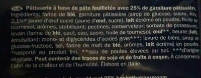Cornetti alla crema pasticcera - Ingrédients - fr