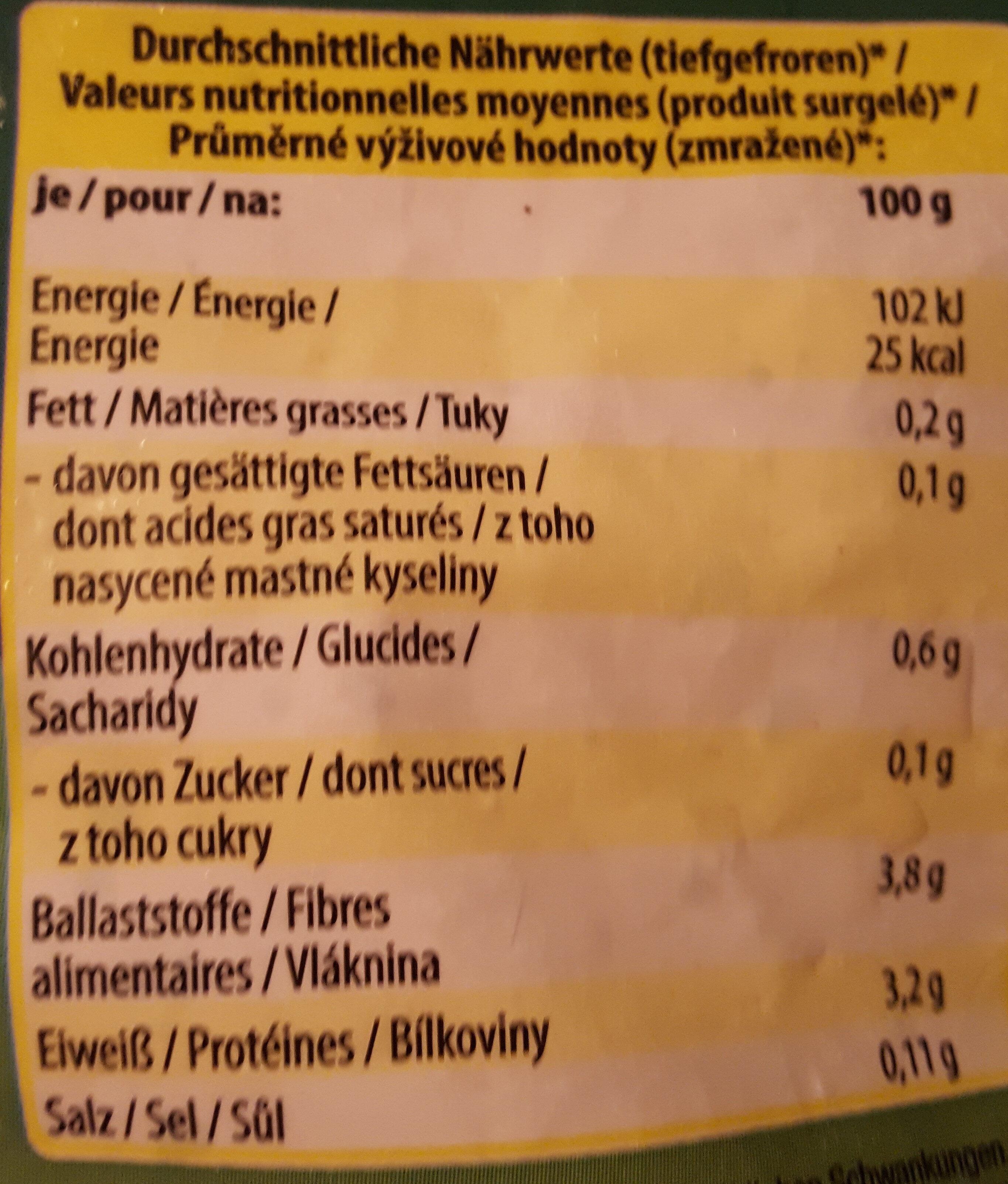 Blattspinat - Valori nutrizionali - de