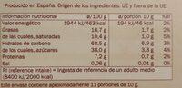 Barquillo chocolate DOR - Información nutricional - es