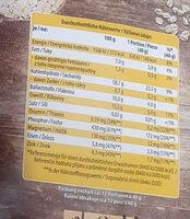 Haferflocken kernig - Nutrition facts - de