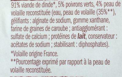 Brochette de Dinde - Ingrédients - fr
