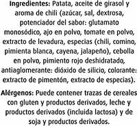 Patatas fritas artesanas sabor chili - Ingredients - es