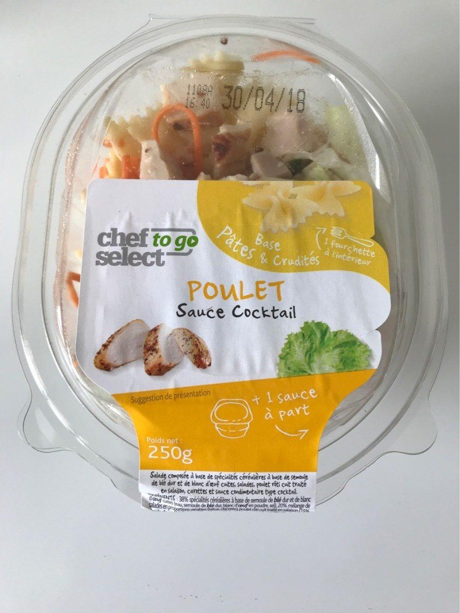 Poulet rôti Pâtes-Crudités sauce à la moutarde à l'ancienne - Produit