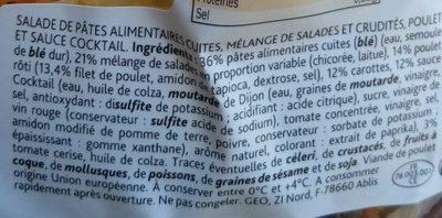 Poulet rôti Pâtes-Crudités sauce à la moutarde à l'ancienne - Ingrédients