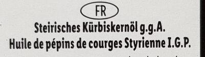 Huile de pépins de courge styrienne - Ingredienti - fr