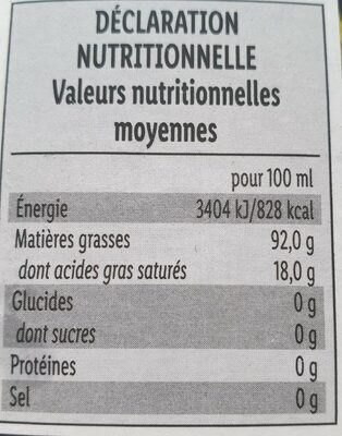 Huile de pépins de courge styrienne - Valori nutrizionali