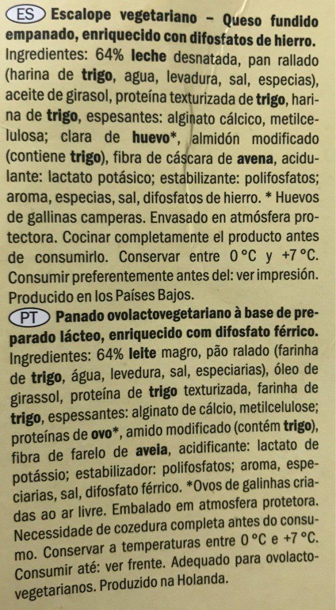 Escalope panado vegetariano - Ingrédients - fr