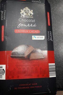 Chocolat fourré - crémeux cacao - Produit - fr