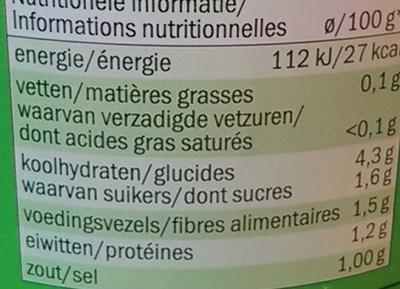 Haricots verts extra fins - Valori nutrizionali - fr