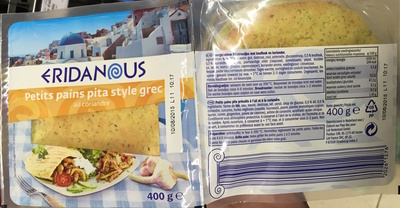 Petits pains pita style grec ail coriandre - Product