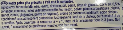 Petits pains pita style grec ail coriandre - Ingredients