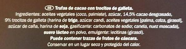 Trufas con galleta - Ingredients
