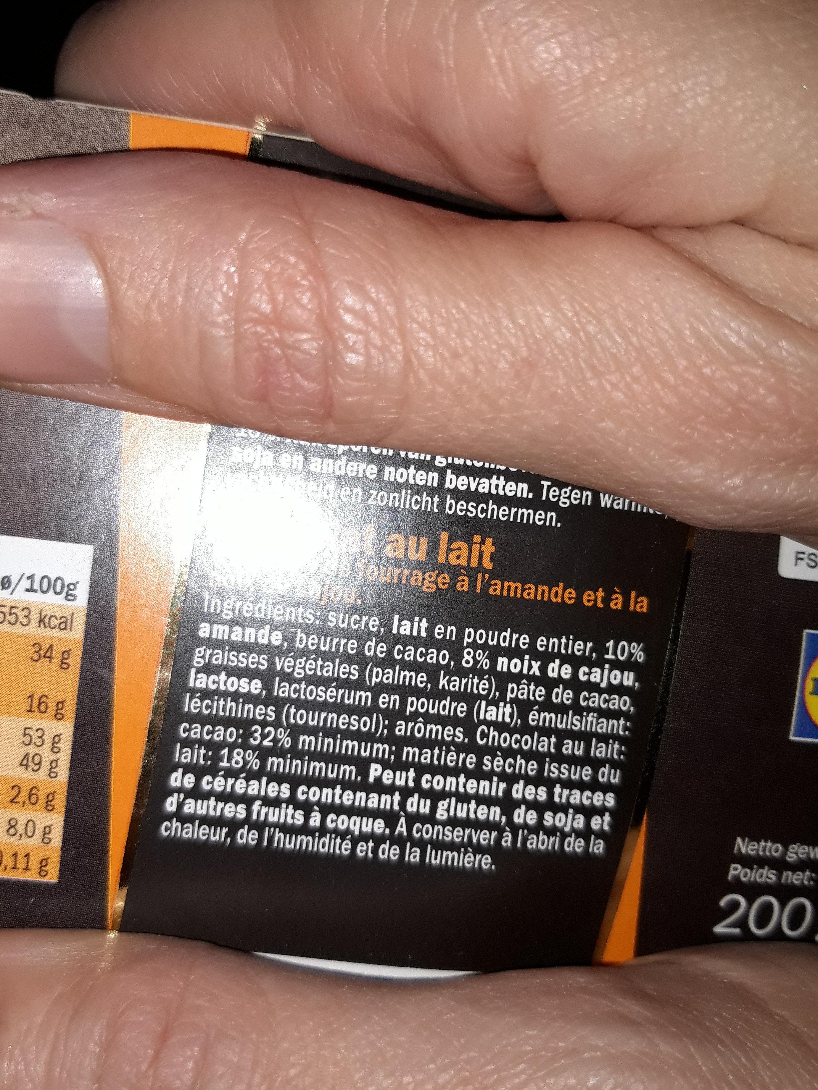 Dessert lait - Ingrediënten - fr